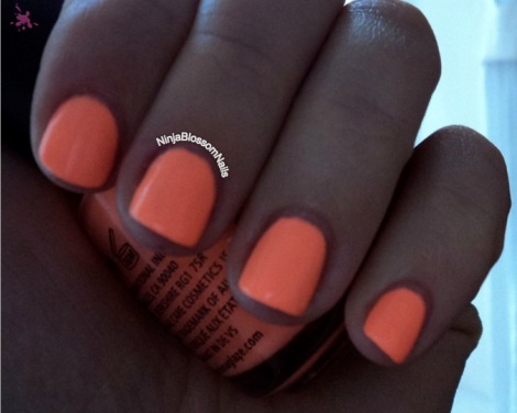 China Glaze Sun of a Peach - inside shade
