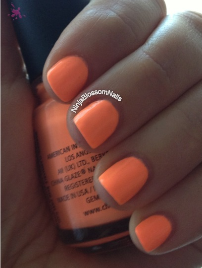 China Glaze - Sun of a peach, outside sunny.