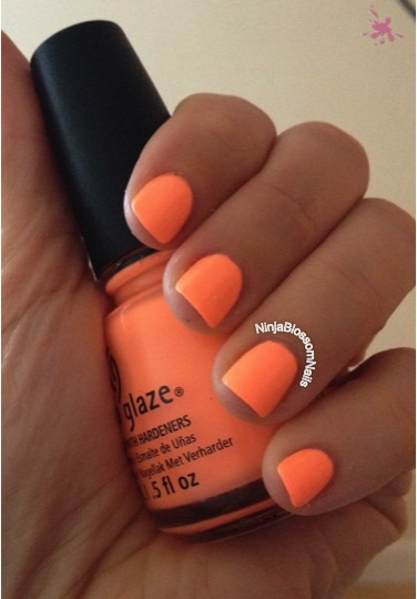 China Glaze - Sun of a Peach. Inside natural light