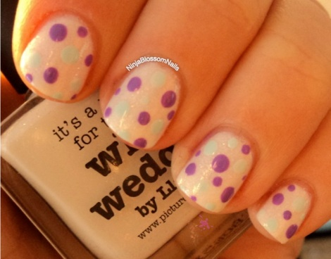 piCture pOlish White Wedding and Dots