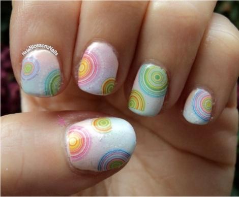Models own pastels nail art