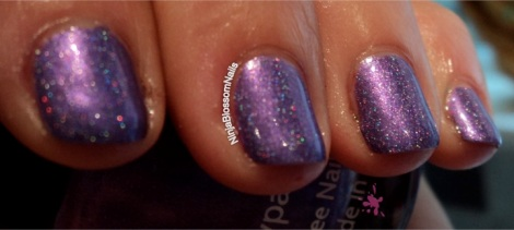 Purple people eater - sparkling like a Christmas tree :)