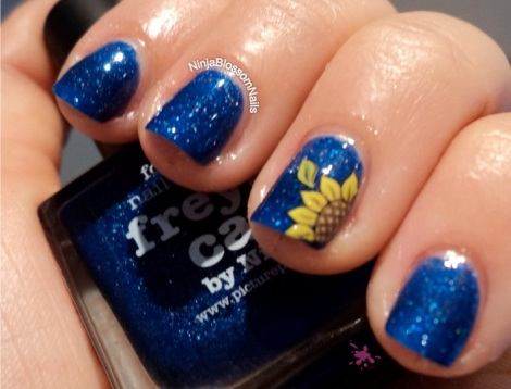 piCture pOlish Freya's Cats with Sunflower decals Inside